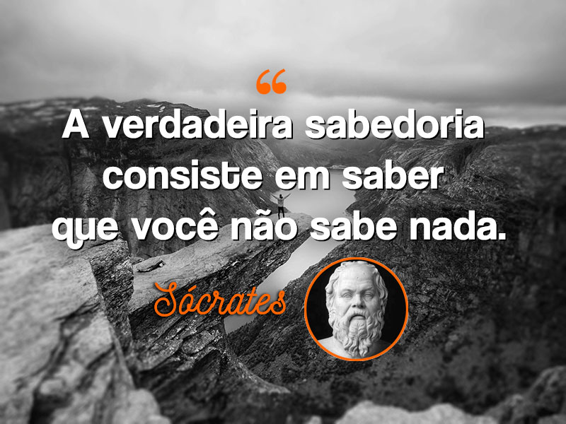 A verdadeira sabedoria – Socrates