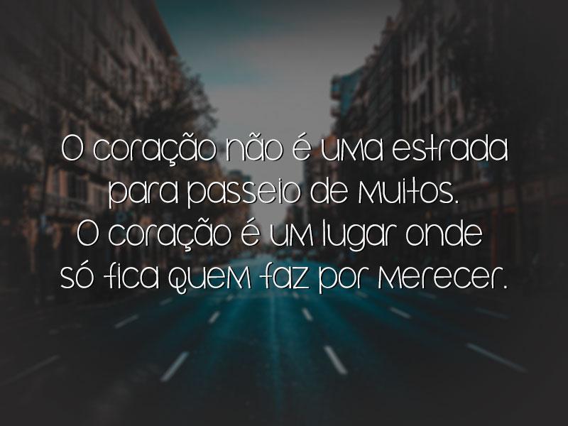 O coração não é uma estrada para passeio de muitos