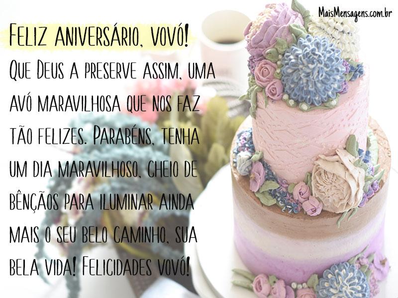 Feliz Aniversário Vovó Feliz: Feliz Aniversário Vovó! Que Deus A Preserve Assim